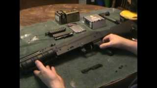 Installation of UTG side rail adaptor model 47 TL-M47SR. Also, shows install of UTG model 47 double rail side mount MNT-978. This was done on a Century Arms ...