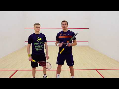 squash tips: Advanced volleying with Nick Matthew - Attacking using the strings