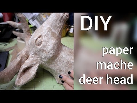 How to Make a Paper Mache Deer Head : DIY