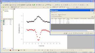 Setting Data Range in the Nonlinear Fit Tool