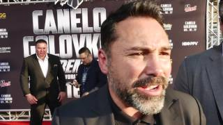RingTV was on hand at the recent Canelo Alvarez-Gennady Golovkin red carpet event in Los Angeles, the final leg of the press tour for the Sept. 16 middleweight showdown. Dominic Verdin spoke to Canelo, GGG, and Oscar De La Hoya.