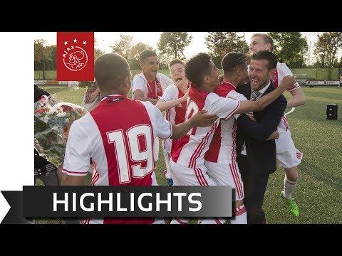 Highlights kampioenswedstrijd Ajax O15 - AFC O15