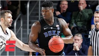 Zion Wiliamson's 26 points lead Duke past Notre Dame   College Basketball Highlights