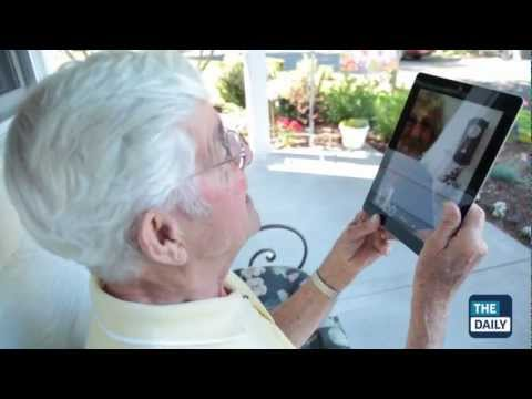 Facetime - Their struggle with a webcam made them inadvertent YouTube stars. Now The Daily shows Oregon grandparents Bruce and Esther Huffman how technology can work fo...