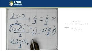 UTPL ECUACIONES LINEALES [(CCEE - FÍSICO MATEMÁTICAS)(MATEMÁTICA I)]