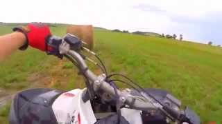 2. KFX450R Top Speed, Wheelies, and Donuts!