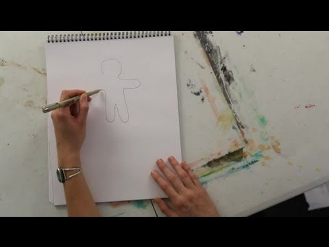 How to Draw the Outline of a Gingerbread Man : Art Projects