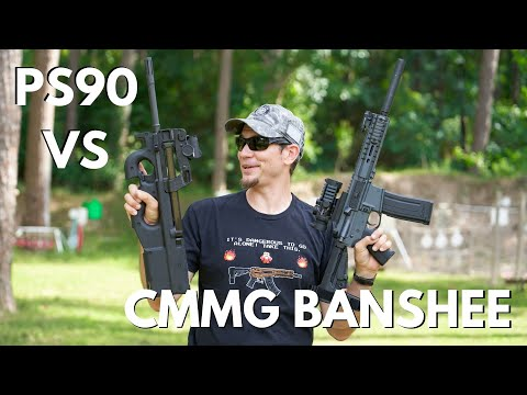 5.7x28mm Showdown!  PS90 VS CMMG BANSHEE