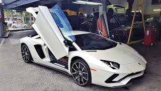 Video 2017 Lamborghini Aventador S LP740-4 LOUD BEAST at lamborghini Miami (Behind Unveiling Scenes) MP3, 3GP, MP4, WEBM, AVI, FLV Januari 2018