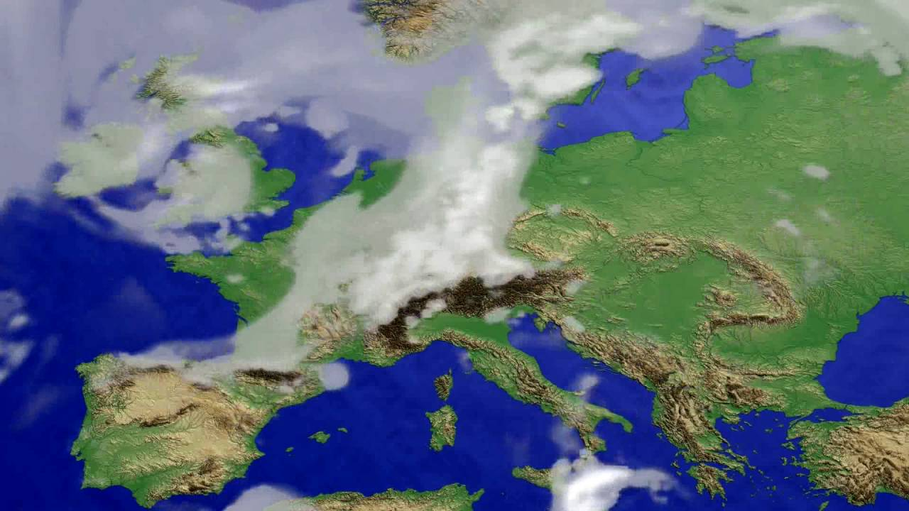 Cloud forecast Europe 2016-06-22