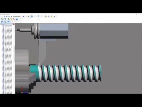 Edgecam Rope Threading (видео)