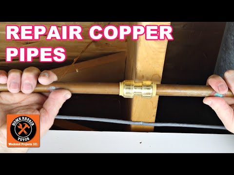 Repair Copper Pipe Leaks with SharkBites (Super EASY)