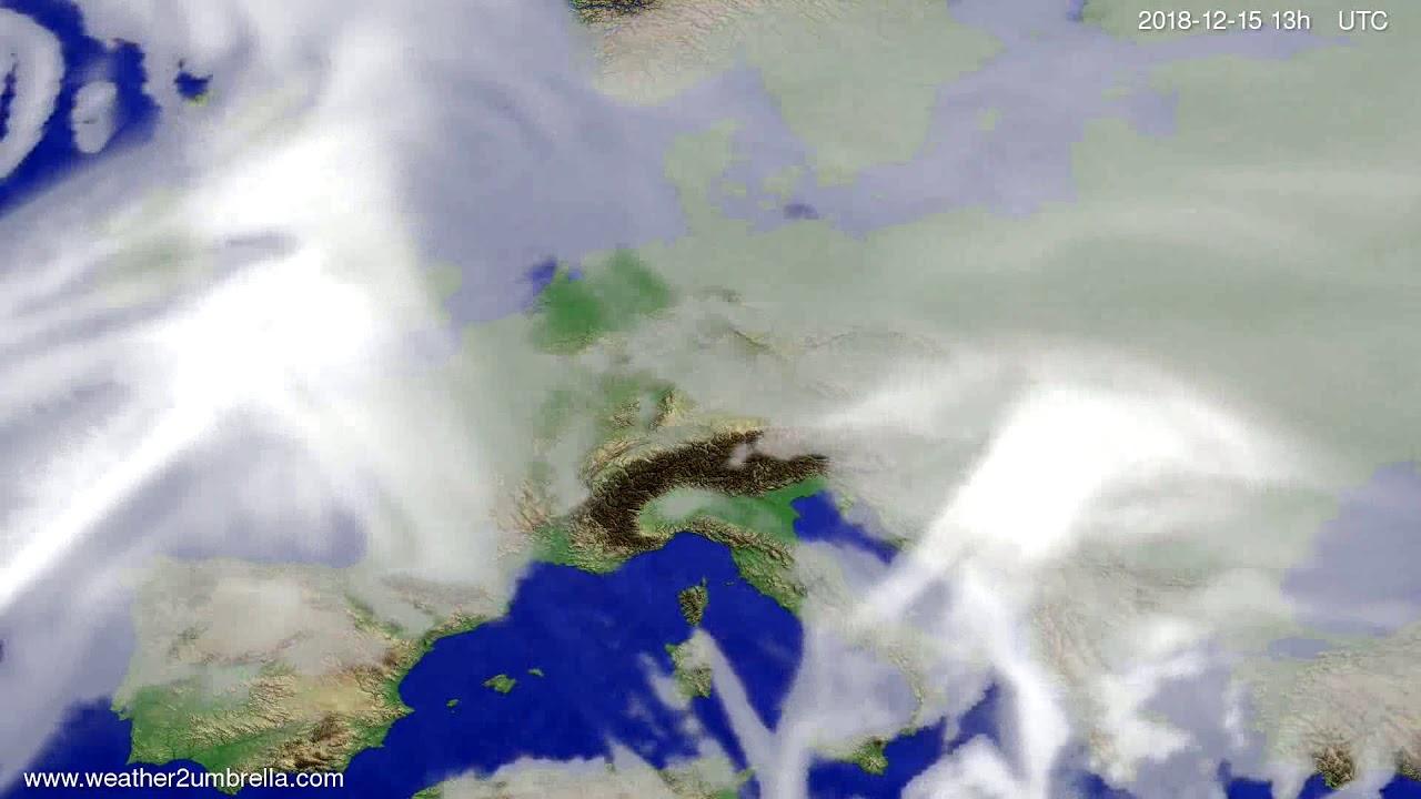 Cloud forecast Europe 2018-12-12
