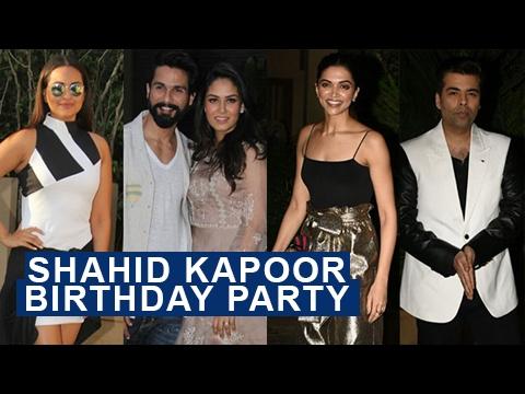 Shahid Kapoor Birthday Bash | Deepika Padukone | K