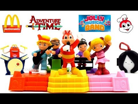 2017 JOLLIBEE JOLLY MUSICAL BAND McDONALD'S ADVENTURE TIME HAPPY MEAL TOYS KID FULL SET 5 ASIA WORLD