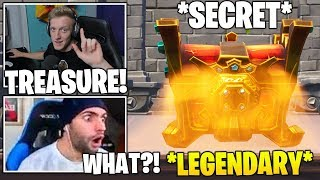 STREAMER Finds *SECRET* Legendary RED Chest & Tfue Buys Season 8 Battle Pass! (Fortnite Moments)