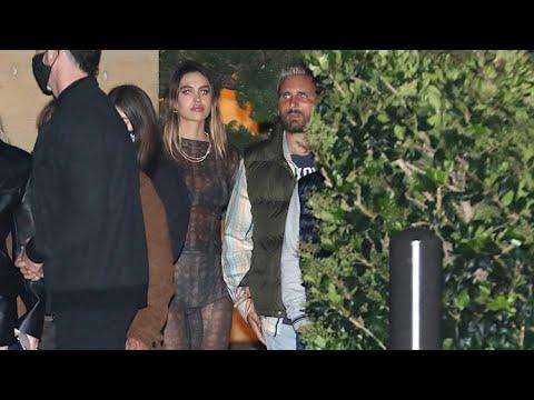 Scott Disick And Amelia Hamlin Walk Arm In Arm On Date Night