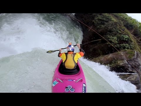 WATCH: Here's what it is like to kayak over a 60 foot waterfall