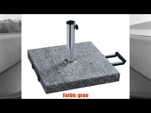 am besten Schirmständer mit Rollen aus massivem Granit (grau) eckig 60kg  Rezension