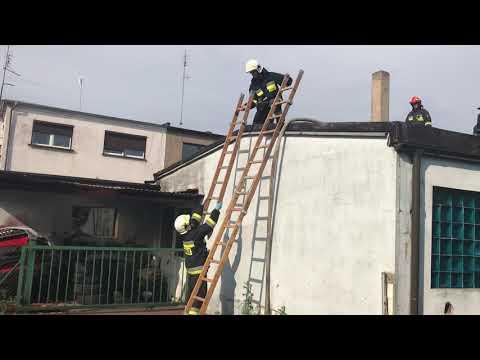Wideo1: Pożar przy ul. św. Franciszka z Asyżu w Lesznie