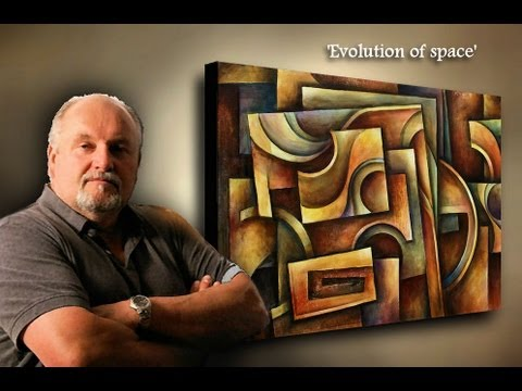 Abstract Painting Demonstration – How to paint Geometric Design abstract