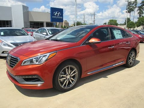 2015 Hyundai Sonata Sport 2.0T Start Up, Exterior/ Interior Review