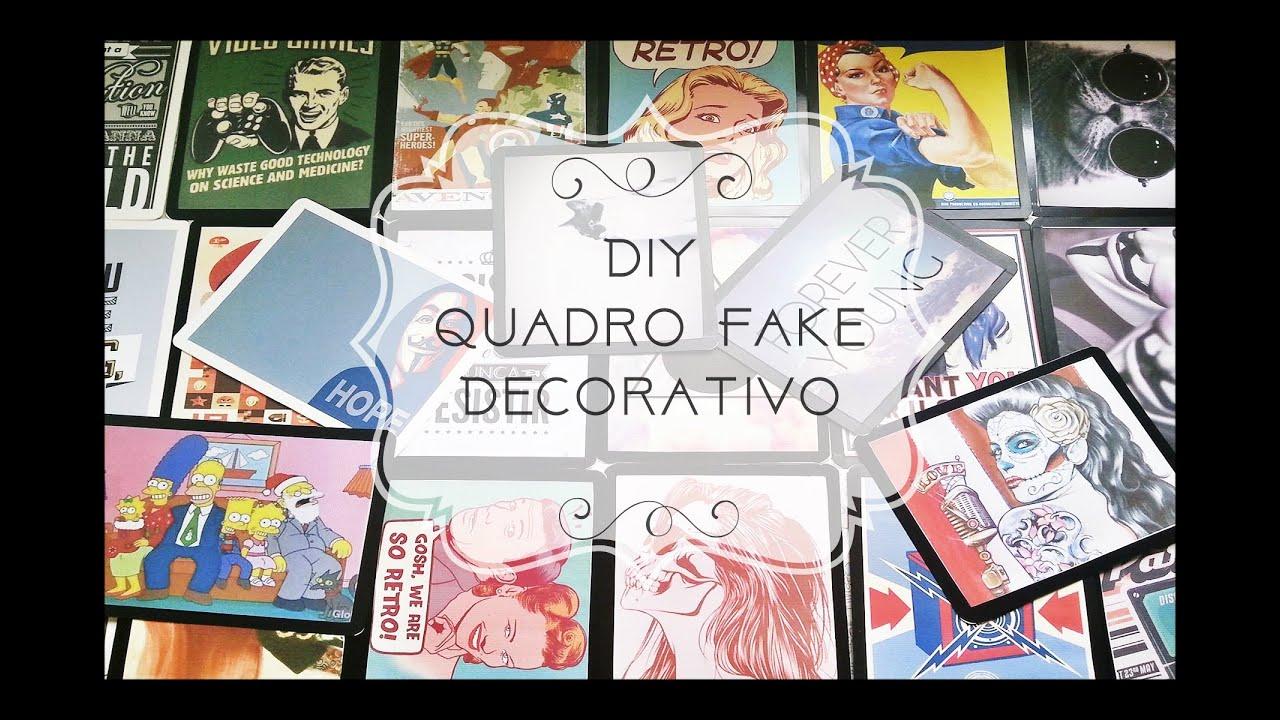 DIY Quadro Fake Decorativo Retrô ou Pôster