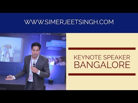Motivational Speakers in Bangalore – Video Preview of Keynote Speeches