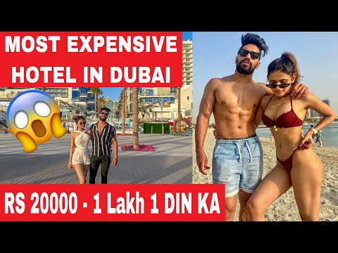 WORLD'S MOST LUXURIOUS HOTEL IN DUBAI 😱 - ROHIT SONIYA VLOGS