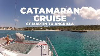 Our Catamaran adventure cruise from beautiful Sint-Maarten to the island of Anguilla in the Caribbean. What paradisiac islands!