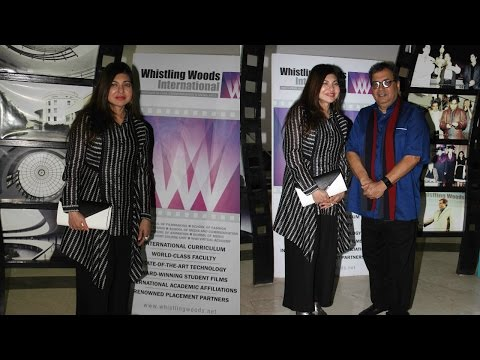 Alka Yagnik Visit At Whistling Woods International Institute