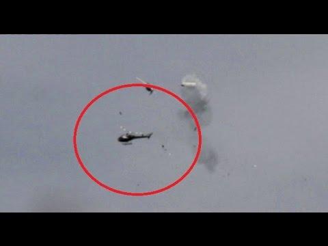 INCREÍBLE | Momento exacto en el que chocan dos helicópteros en Argentina ● C… видео