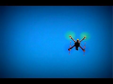 Quadricóptero em São Jerônimo - queda no final