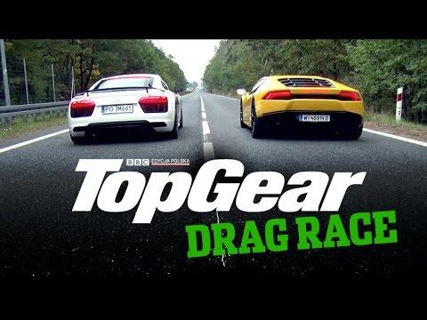 audi r8 v10 vs lamborghini huracan - drag race