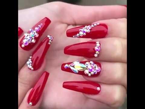 TENDENCIA 2018!! Decoración de uñas acrilicas ideas/ Diseños de uñas moda