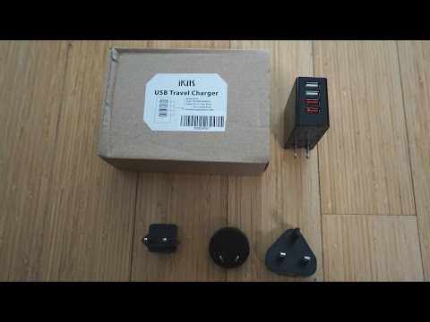 iKits 4 Port USB Charger with US, UK, Europe and Aus/NZ Plugs Review