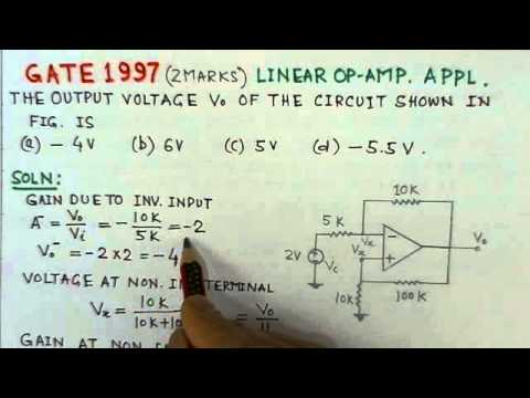 Video Solution To GATE ECE -1997 Problem-Linear Op Amp Applications видео