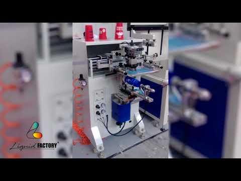 Mquina de serigrafia semi automatica para botellas redondas