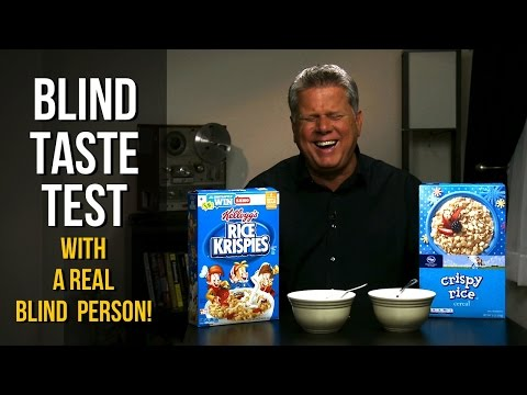 WATCH: Blind Taste Test With Real Blind Guy