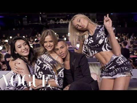 Victoria's Secret Angels Get a Backstage Punk Makeover | Vogue