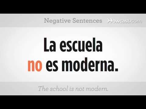 Learn Spanish / Negative Sentences I