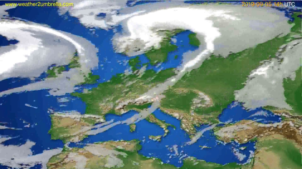 Cloud forecast Europe // modelrun: 00h UTC 2019-09-03