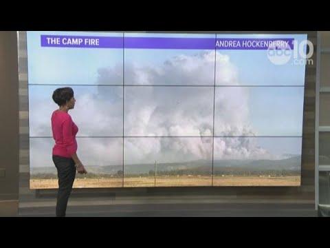 Winds dominate Camp Fire in Butte County