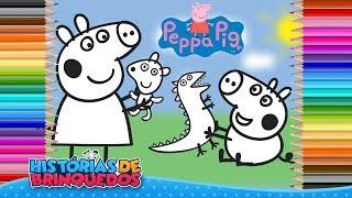 Pocoyo português Brasil - Colorindo Desenho da Peppa Pig e George Pig em Portugues! Videos para Crianças