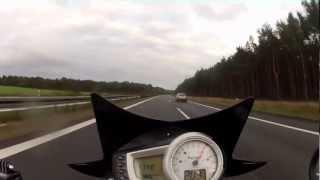 9. Triumph Speed Triple on the Autobahn gopro hero 2