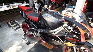 9. aprilia RS125 Weight measurement