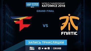 FaZe vs fnatic - IEM Katowice 2018 - map1 - de_cache [ceh9, yXo]