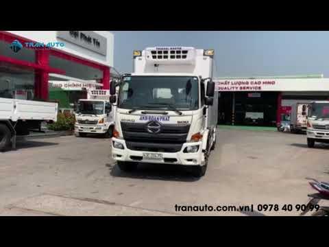 Bàn giao xe tải đông lạnh Hino cho khách hàng ở Đà Nẵng