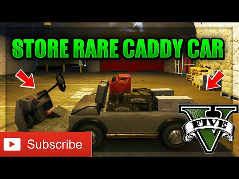Gta V - How to store a Caddy (Golf Cart) (1.40)