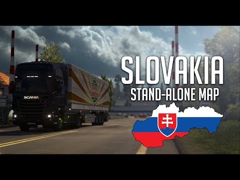 Standalone map of Slovakia made by kapo944 v6.0.2